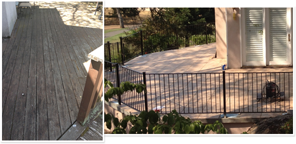 before and after 3D wire stone deck