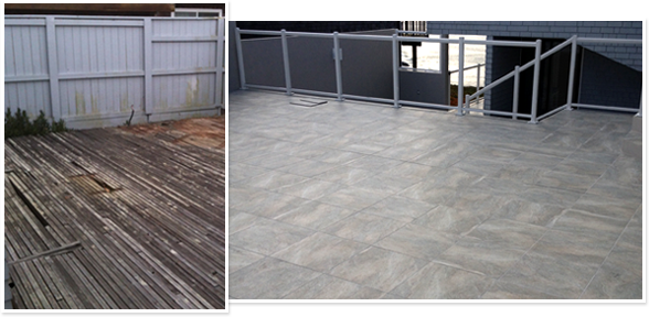 before and after nexxsteel decking